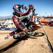 Marvin Musquin races during Red Bull Straight Rhythm in Pomona, CA, USA on October 21, 2017.