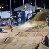 Ronnie Mac & Ryan Sipes race during Red Bull Straight Rhythm in Pomona, CA, USA on October 21, 2017.