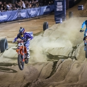 Sean Cantrell & Shane Mclerath race during Red Bull Straight Rhythm in Pomona, CA, USA on October 21, 2017.
