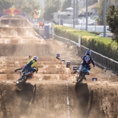 Ronnie Mac and Jordon Smith practice at Red Bull Straight Rhythm in Pomona, CA USA on October 21, 2017.