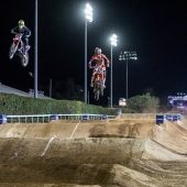 Kyle Chisholm and Broc Tickle compete at Red Bull Straight Rhythm in Pomona, CA USA on October 21, 2017.