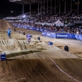 Shane McElrath and Sean Cantrell compete at Red Bull Straight Rhythm in Pomona, CA USA on October 21, 2017.