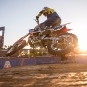Ronnie Mac competes at Red Bull Straight Rhythm in Pomona, CA USA on October 21, 2017.