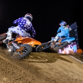 Sean Cantrell and Shane McElrath compete at Red Bull Straight Rhythm in Pomona, CA USA on October 21, 2017.