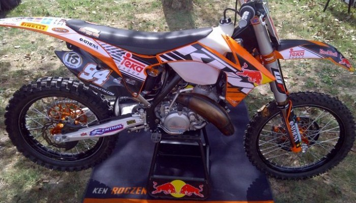 la ktm 125 de ken roczen lebigusa actualit du motocross supercross us. Black Bedroom Furniture Sets. Home Design Ideas