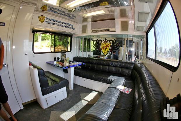 Le salon personnel du chauffeur, du moins jusqu'à vendredi. © LeBigUSA.com/Benjamin D'introne