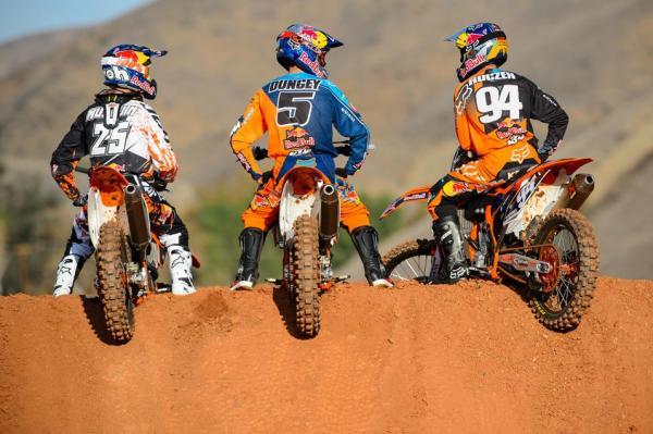 Musquin, Dungey et Roczen seront en Espagne les 5 et 6 octobre prochains. © Cudby