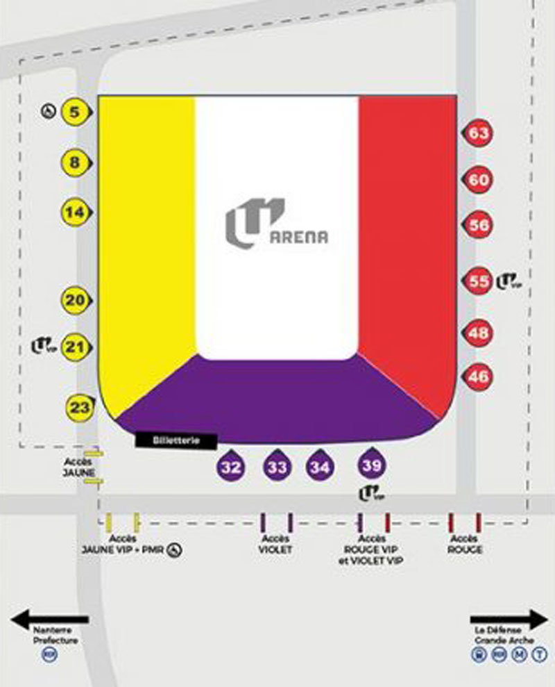 Pour aller au supercross de nanterre lebigusa for Interieur u arena